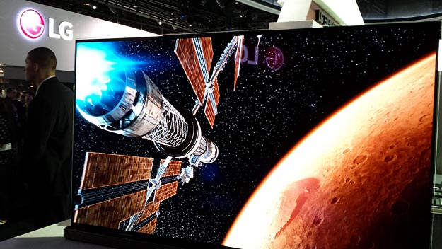 NASA 4K UHD on display in the LG booth