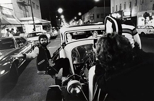 George Lucas on the set of American Graffiti
