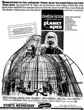 Apes newspaper ad