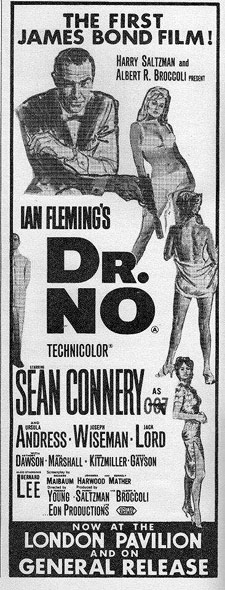 A newspaper ad for Dr. No