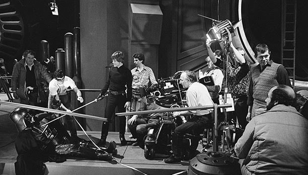 On the set of Return of the Jedi