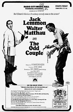The Odd Couple newspaper ad