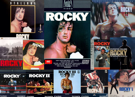 Rocky on home video over the years