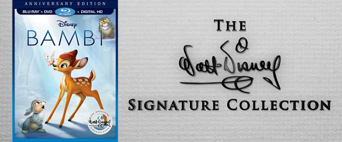 Disney unveils a new Bambi: Walt Disney Signature Collection Blu-ray for release on 6/6