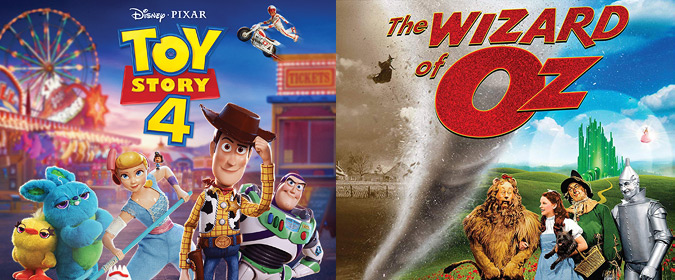 Disney sets Toy Story 4 for Blu-ray, DVD & 4K on 10/8, plus Warner's The Wizard of Oz 4K on 10/29