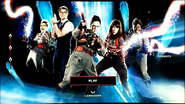 Sony's Ghostbusters 4K Ultra HD Blu-ray Menu
