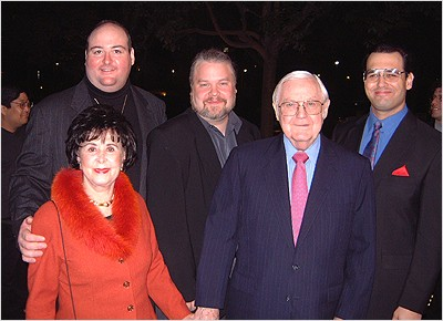 L to R: Millicent Wise, Director's Edition producer David Fein, effects supervisor Daren Dochterman, director Robert Wise and restoration supervisor Michael Matessino