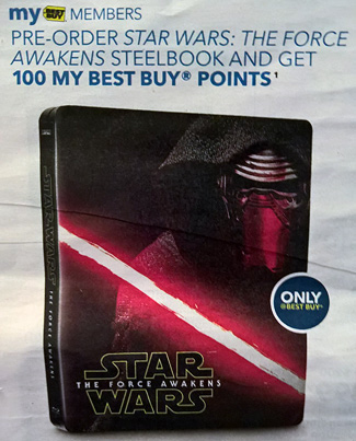 Best Buy ad for Star Wars: The Force Awakens Blu-ray