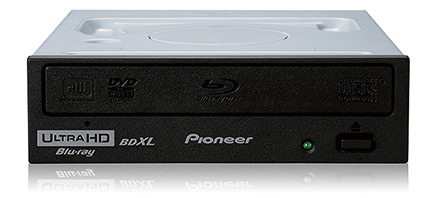Pioneer's BDR-221UBK 4K Ultra HD Blu-ray drive for PCs