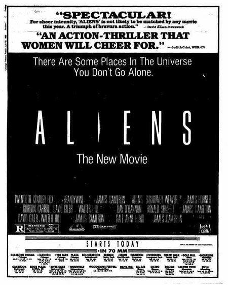Aliens newspaper ad