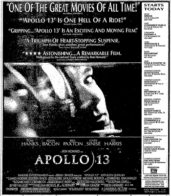 Newspaper ad for Apollo 13