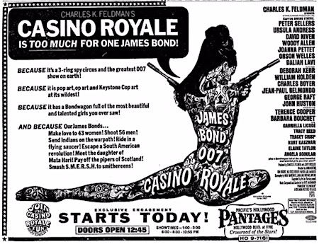 Casino Royale (1967) ad