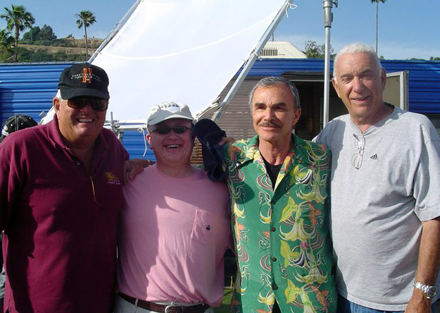 Left to Right: Gray Frederickson, Bud Elder, Burt Reynolds, and Albert S. Ruddy