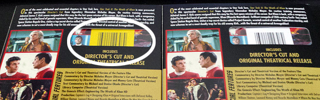 How to spot the fixed Wrath of Khan: Director's Cut Blu-ray in stores
