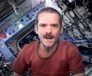 Bowie's Space Oddity for real on the ISS!